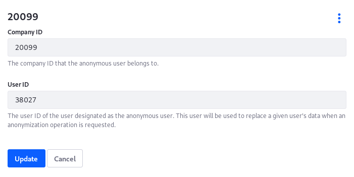 Figure 2: Assign your own Anonymous User from Control Panel → Configuration → System Settings → Users → Anonymous User.