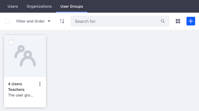 Figure 2: The User Groups tab in Memberships shows the User Groups currently assigned to the Site.