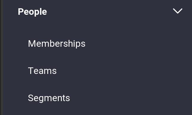 Figure 1: Select Memberships from the People menu.