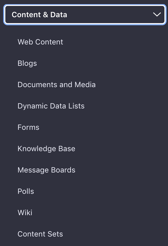 Figure 1: Your Sites content resides in the Site Administration menu.