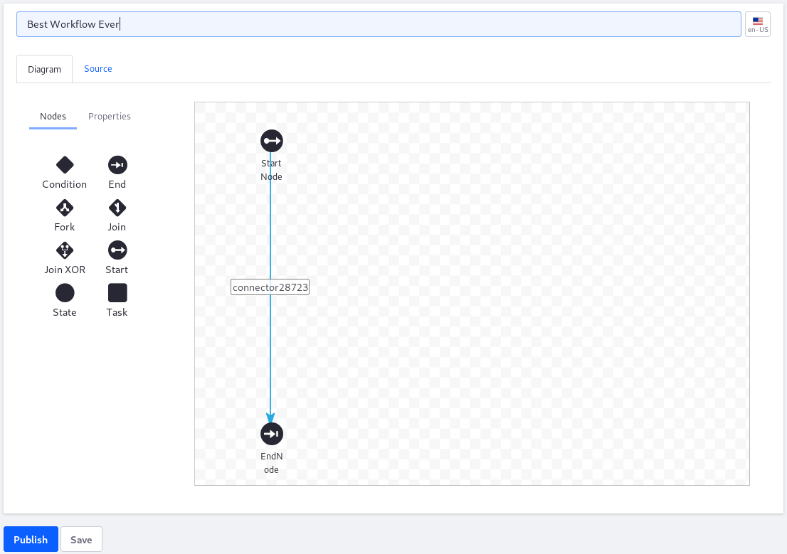 Figure 1: The Workflow Designers graphical interface makes designing workflows intuitive.