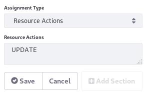 Figure 2: Configure resource action assignments in the Workflow Designer.