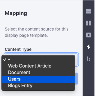 Figure 1: After creating the *InfoDisplayContributor class, you can create Display Page Templates and map them to your custom model.