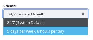 Figure 1: Write a Custom SLA Calendar if the default, 24/7 calendar isnt sufficient.