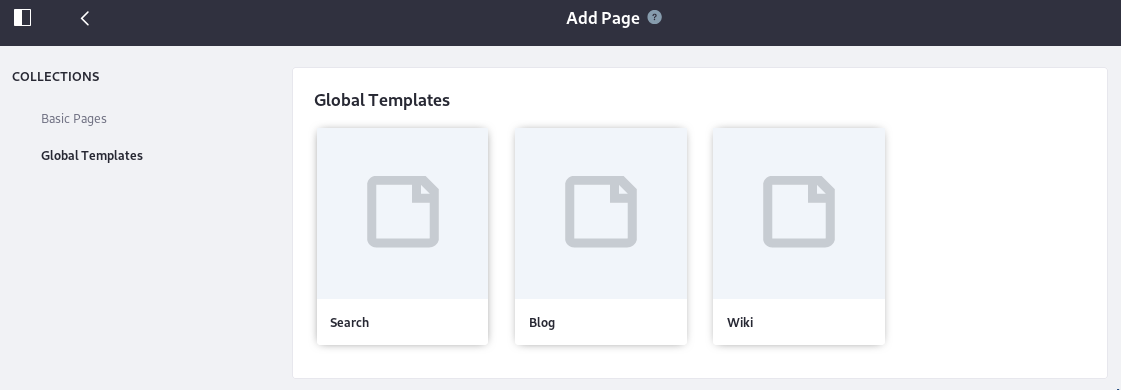 Figure 6: Theres a handy page template for creating search pages.