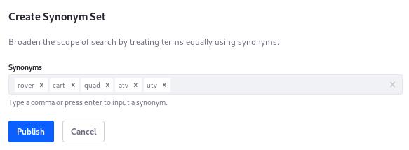 Figure 1: Add as many synonymous keywords to a set as youd like.