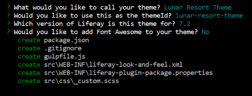 Figure 1: Answer no for the Font Awesome Prompt