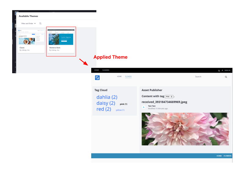 Figure 2: You can select an attractive theme and apply it to your site.
