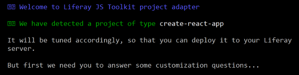 Figure 1: You can run the adapt subtarget of the Liferay JS Generator to adapt your existing apps for Liferay.